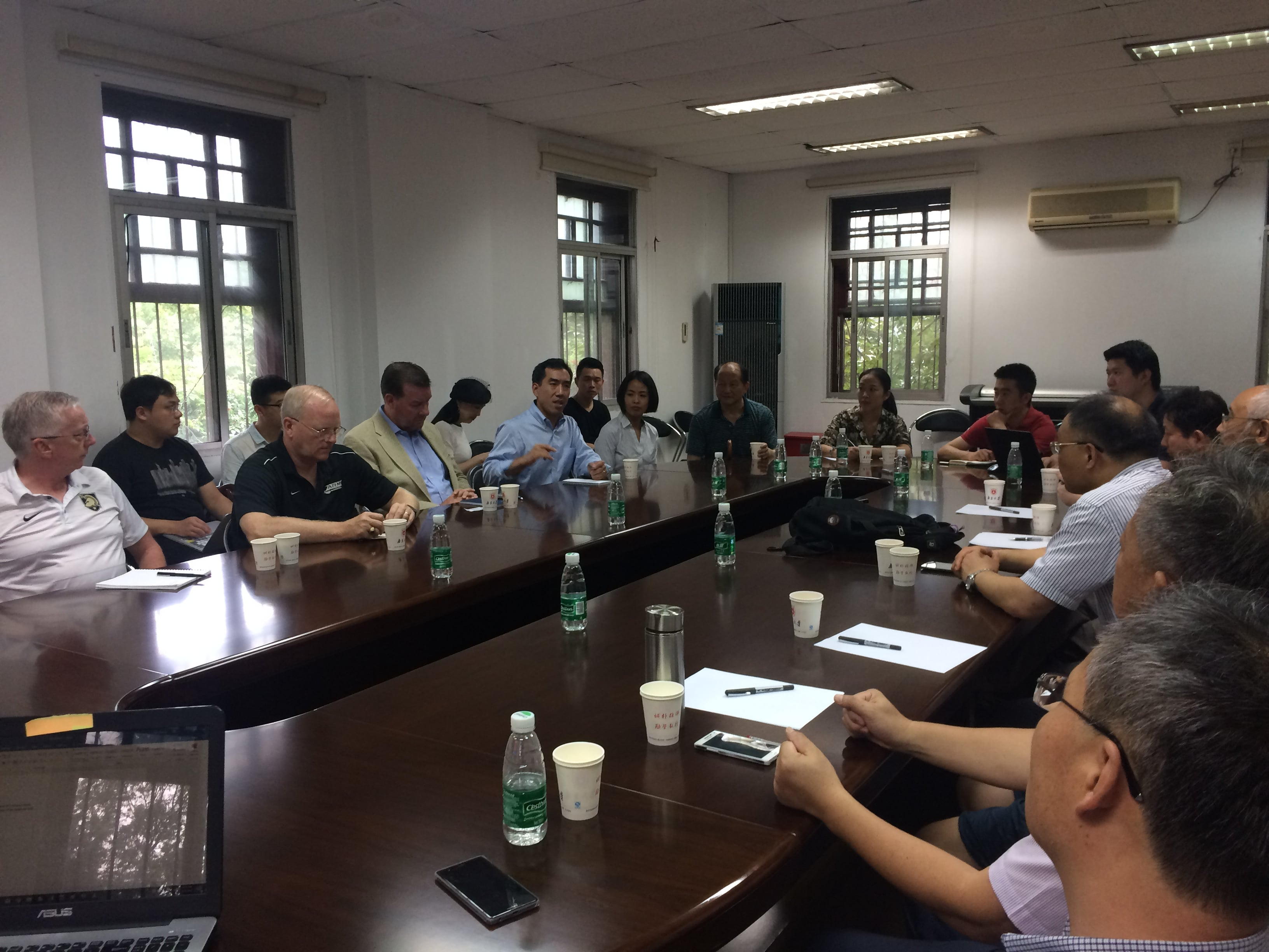 Delegates traveled to Nanjing to meet with members of the Collaborative  Innovation Center for South China Sea Studies at Nanjing University.