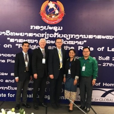 """March 2019:IGE and the Ministry of Home Affairs (MOHA) of the Lao People's Democratic Republic co-convened the first-ever national conference on """"Religion and the Rule of Law"""" in Vientiane."""