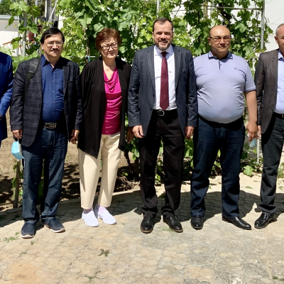 IGE Senior Fellow Wade Kusack meets with pastors and local government officials at the first legally recognized Protestant church in Nukus, Karakalpakstan.