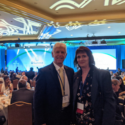 IGE President & CEO John Boyd with IGE Board Member and USCIRF Chair Nadine Maenza